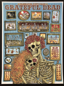 AUCTION - Emek - Grateful Dead Chicago '15 - Fare Thee Well Silkscreen - Artist Edition of 150 - Condition - Mint