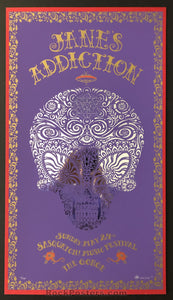 AUCTION - Emek - Jane's Addiction Sasquatch '09 Silkscreen - Purple Edition - Condition - Mint
