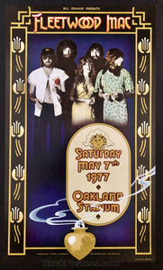 AUCTION - Fleetwood Mac Original Randy Tuten 1977 Poster - Oakland Stadium - Condition - Mint