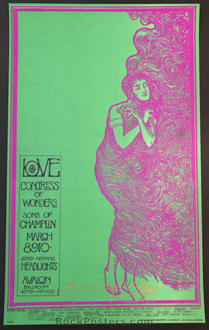 AUCTION - FD 109 - Love Arthur Lee Mouse Signed Poster - Avalon Ballroom - Condition - Mint