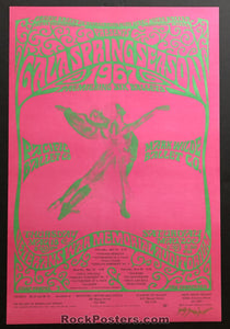 AUCTION - San Francisco Pacific Ballet - 2-Sided Original 1967 Bob Schnepf Poster  -  Veterans War Memorial - Condition - Mint & Signed