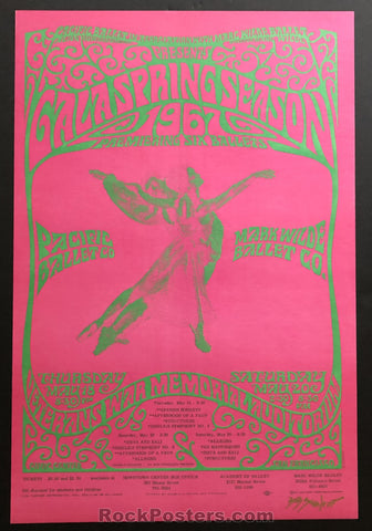 AUCTION - Psychedelic Pacific Ballet - San Francisco 1967 - Signed Original Bob Schnepf Poster - Condition - Mint