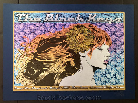 AUCTION - Chuck Sperry - Black Keys Council Bluffs '11 - Blue Linen Variant Edition of 25 - Condition - Mint