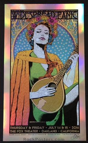 AUCTION - Chuck Sperry - Widespread Panic Oakland '16 - Rainbow Foil Edition of 12 - Condition - Mint