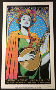 AUCTION - Chuck Sperry - Widespread Panic Oakland '16 - Wave Foil Edition of 15 - Mint