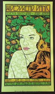 AUCTION - Chuck Sperry - Widespread Panic Chicago '14 - Summer Green Metallic Variant Edition of 20 Condition - Mint