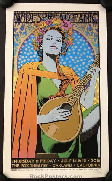 AUCTION - Chuck Sperry - Widespread Panic Oakland '16 - Artist Edition of 100 - Condition - Mint