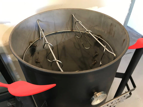 Hanging Rack For Drum Smokers