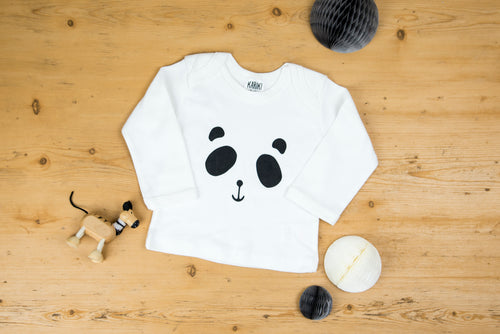Patch the Panda Baby Long Sleeve T-shirt