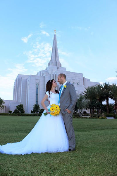 Lorissa's Perfect Modest Wedding Dress