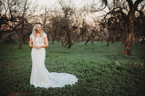 tucson brides modest wedding dresses with sleeves LDS cheap wedding gowns