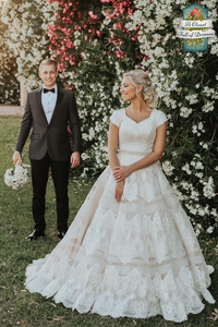 modest wedding dress with sleeves ball gown beautiful bride gorgeous gown