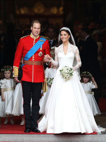 kate middleton's bridal gown modest wedding dresses with sleeves illusion lace