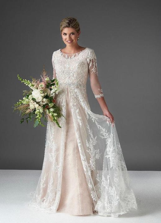 Bonny Bridal 2913 Modest Wedding Dress from A Closet Full of Dresses