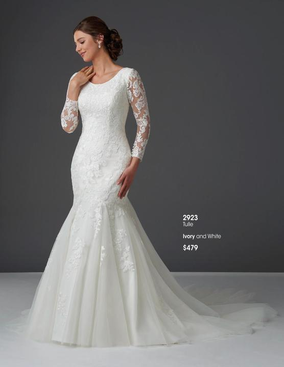 Bonny Bridal 2923 Modest Wedding Dress from A Closet Full of Dresses