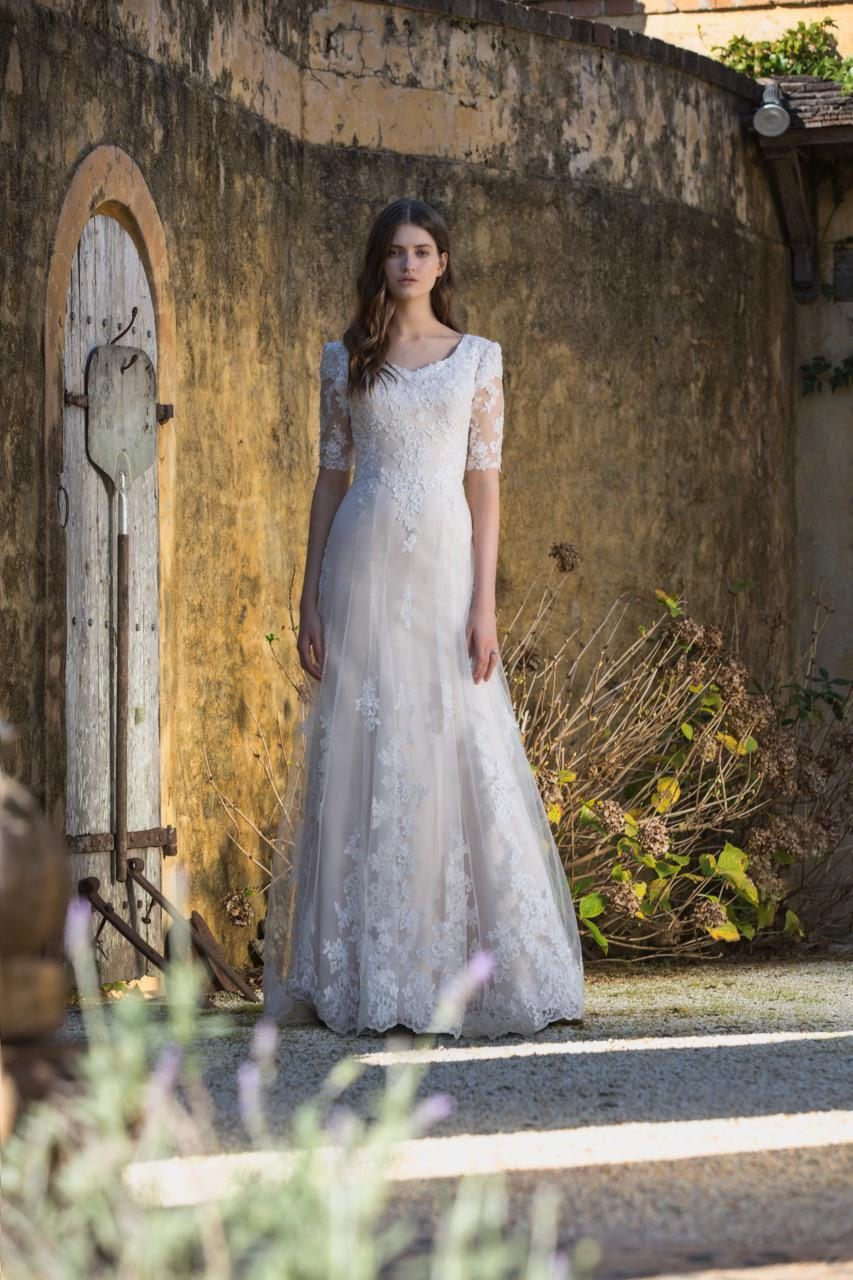 Mia Solano T1682 Modest Wedding Dress from A Closet Full of Dresses
