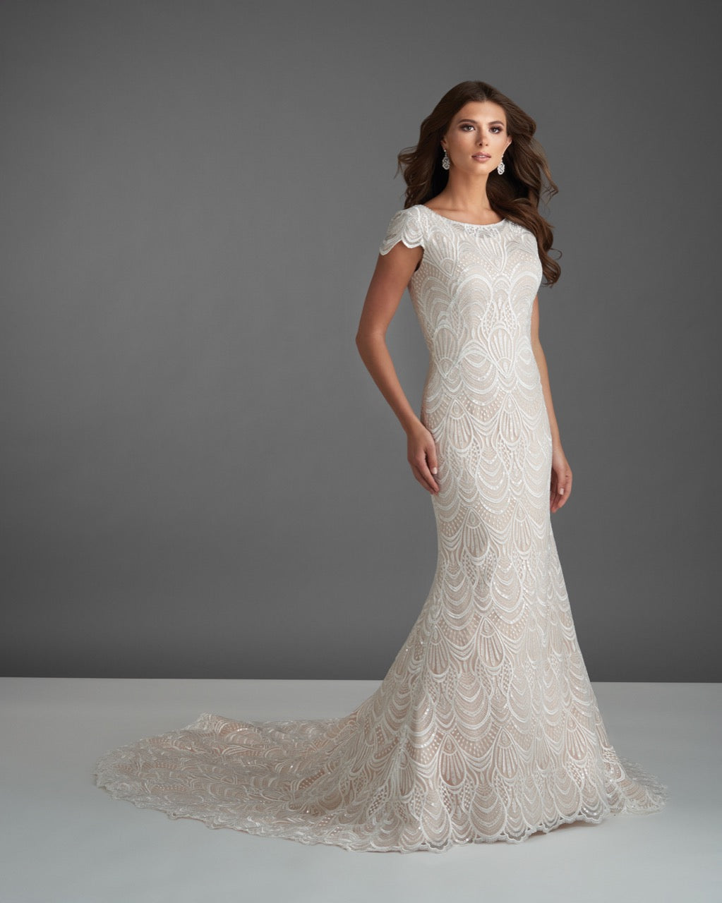 Bonny Bridal 2912 Modest Wedding Dress Bliss Collection from A Closet Full of Dresses