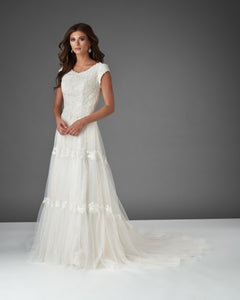 Bonny Bridal 2915 Modest Wedding Dress Bliss Collection from A Closet Full of Dresses
