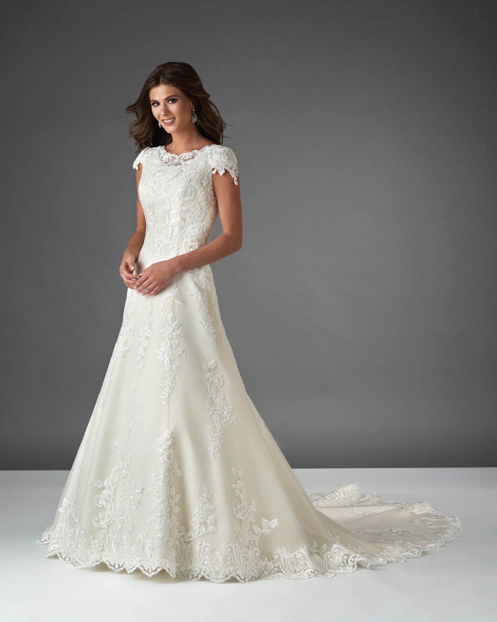 Bonny Bridal 2920 Modest Wedding Dress