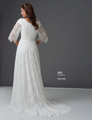 Bonny Bridal 2927 Modest Wedding Dress back from A Closet Full of Dresses