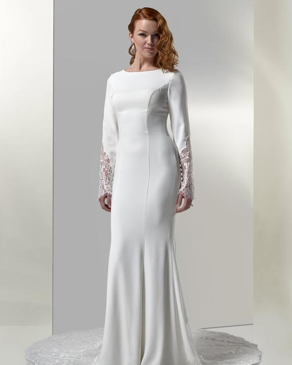 Venus Bridal TB7766 Modest Wedding Dress from A Closet Full of Dresses