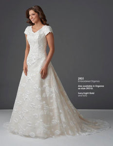 Bonny Bridal 2931 Modest Wedding Dress with sleeves lace bridal gown LDS temple wedding