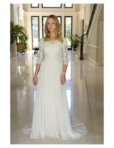 Venus Bridal TB7747 Modest Wedding Dress from A Closet Full of Dresses