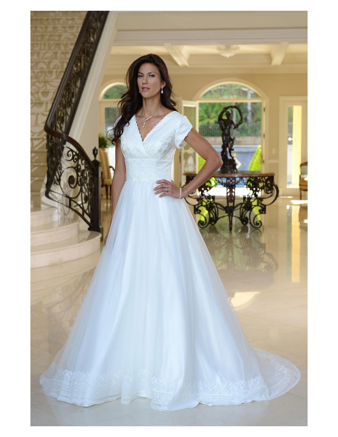 Venus Bridal TB7743 Modest Wedding Dress from A Closet Full of Dresses