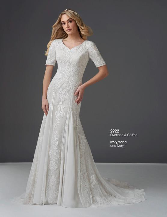Bonny Bridal 2922 Modest Wedding Dress from A Closet Full of Dresses