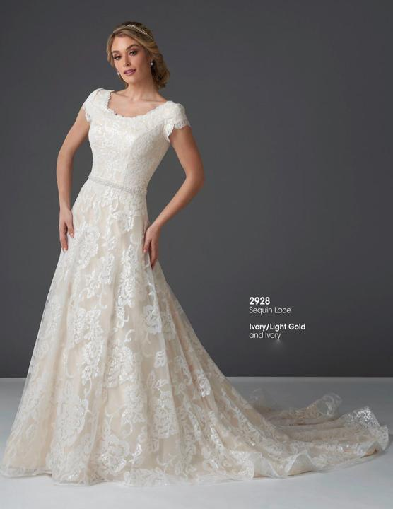 Bonny Bridal 2928 Modest Wedding Dress from A Closet Full of Dresses