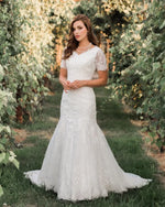 Mia Solano T1983Z Modest Wedding Dress back from A Closet Full of Dresses