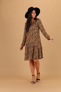 Roxy Leopard Long Sleeve Casual Dress from A Closet Full of Dresses