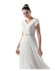 Venus Bridal TB7759 Modest Wedding Dress from A Closet Full of Dresses