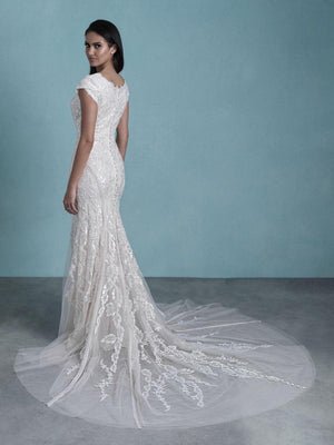 Allure M657 Modest Wedding Dress