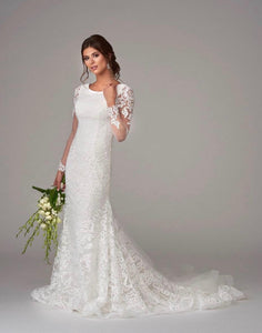 Bonny Bridal 6900M Modest Wedding Dress from A Closet Full of Dresses