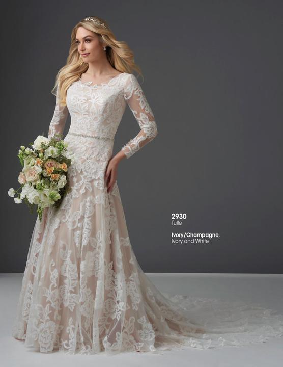 Bonny Bridal 2930 Modest Wedding Dress from A Closet Full of Dresses
