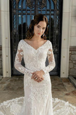 Adeline T2081Z Modest Wedding Dress