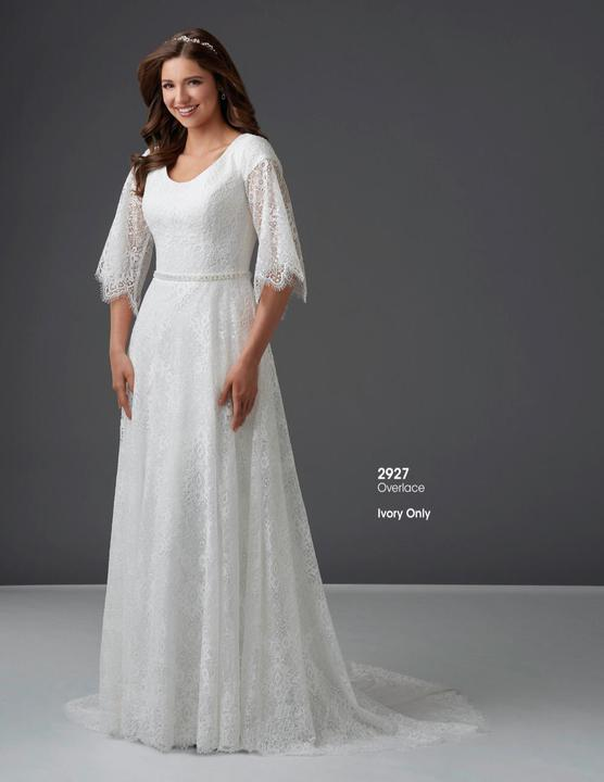 Bonny Bridal 2927 Modest Wedding Dress from A Closet Full of Dresses