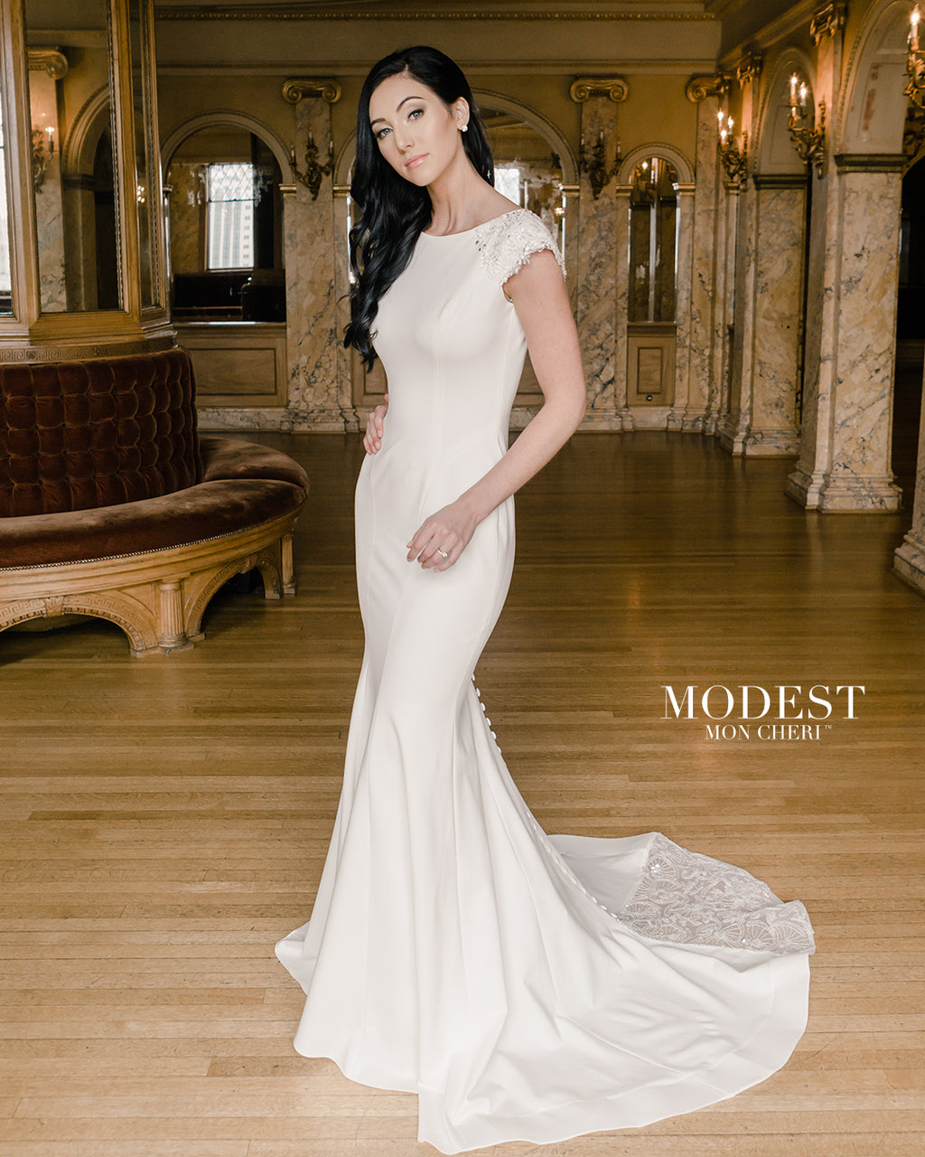 Mon Cheri TR22054 Modest Wedding Dress