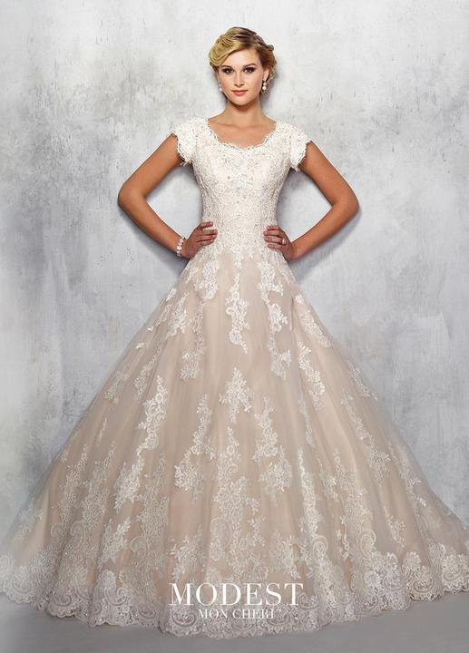 Mon Cheri TR21711 Modest Ballgown from A Closet Full of Dresses