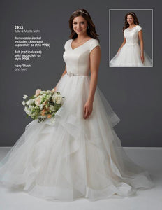 Bonny Bridal 2933 Modest Wedding Dress from A Closet Full of Dresses