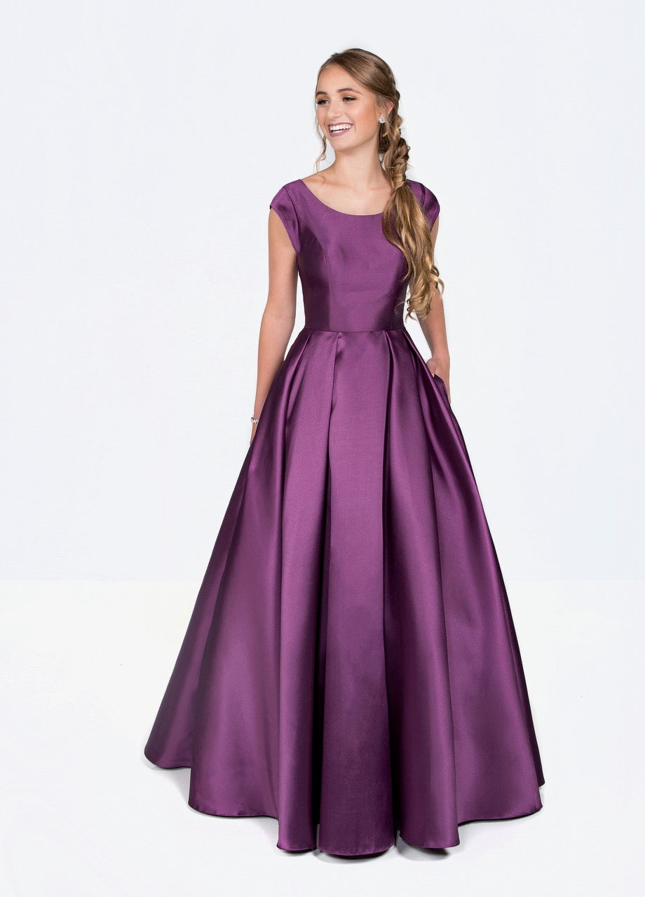 Colette CLM19924 Modest Prom Dresses with sleeves with pockets winter formal ball gown for plus size cheap