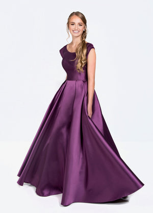 Colette CLM19924 Modest Prom Dresses with sleeves with pockets winter formal ball gown for plus size cheap glam view
