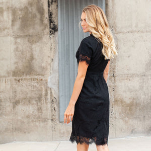 Dahlia Black Modest Casual Dress