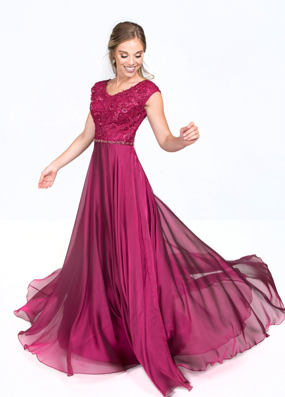 Mon Cheri Ellie Wilde EWM119201 Modest Prom Dress