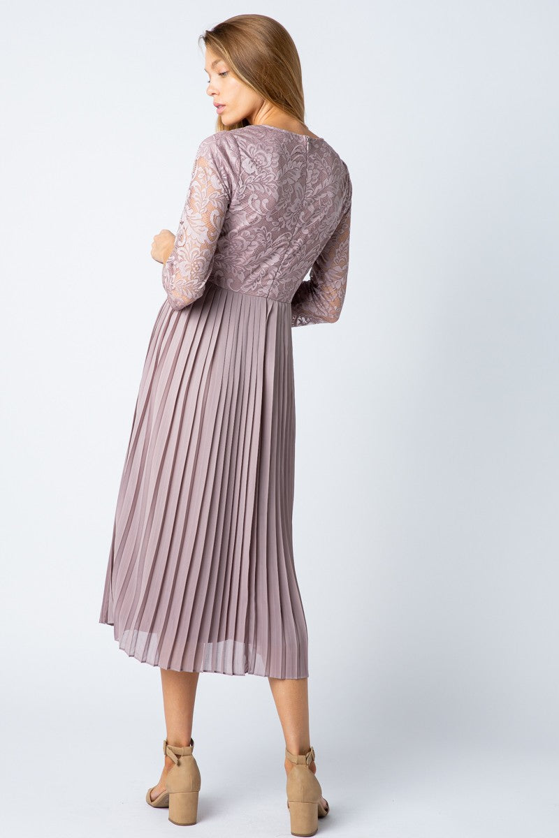 Isla Lavender Modest Casual Dress from A Closet Full of Dresses