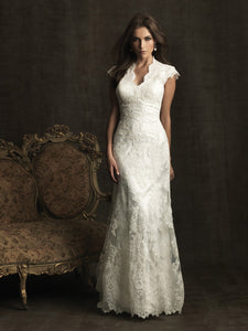 Allure Bridals M476 Modest Wedding Dresses with sleeves LDS modest wedding dress cheap