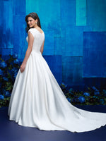M575 Modest Wedding Ballgown