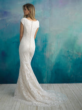 Load image into Gallery viewer, Allure M590 Modest Wedding Dress back view A Closet Full of Dresses
