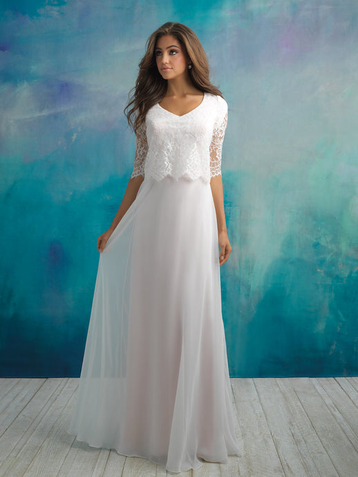 Allure M591 Modest Wedding Dress at A Closet Full of Dresses